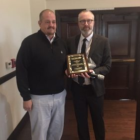 Our 2018 Superintendent of the Year recipient was Dustin McIntosh (left), The Fountaingrove Club (Santa Rosa)