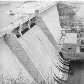 Norris Dam, built as part of the TVA project
