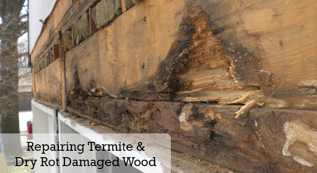 Repairing Termite And Dry Rot Damaged Wood Gc Termite Control Articles