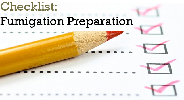 Checklist: Fumigation Preparation