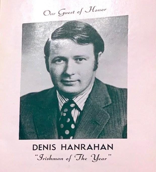 Denis Hanrahan, 1977 Honoree