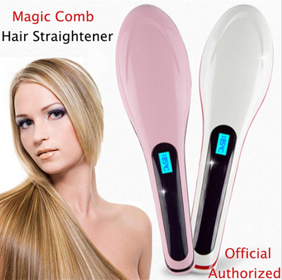 qoo10 brush hair straightener b irons e with lcd display electric stra hair care