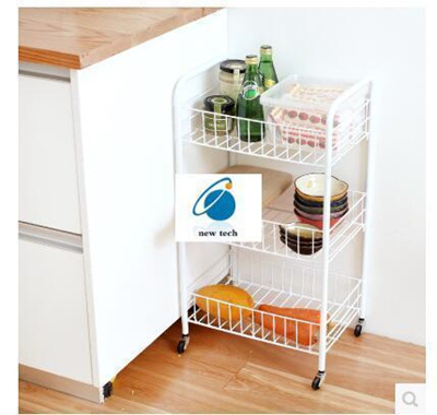 qoo10 - lazy corner kitchen vegetable storage rack movable shelving
