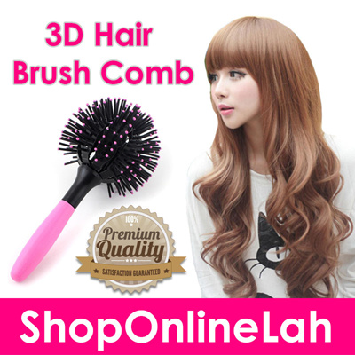 qoo10 3d hair brush b hair care