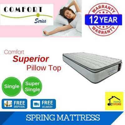 Comfort Superior Pillow Top Spring Mattress S Ss 12 Years Local Manufacturer