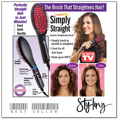 simply straight hair straightening b brush as seen on tv straightening iron deals for