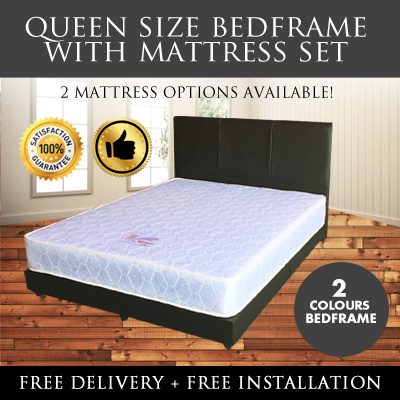 Singapore Mattress Queen Bed Frame Spring 2 Available Free