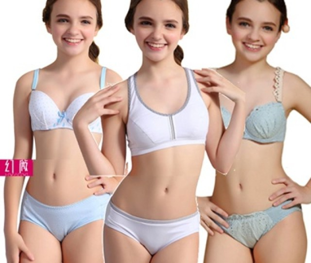 Quality Young Ladies Bra And Panty Set Students Girls Sports Singlet Camisole Lingerie Gift