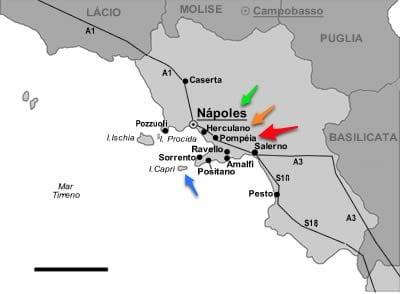 Pompéia, Itália e a destruição pelo vulcão Vesúvio