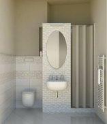Il bagno di servizio con la collezione DOTS di Marazzi