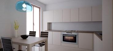 La cucina con pavimento e piastrelle MINIMA di Marazzi