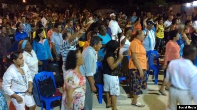 Pastor Alain Toledano en El Salao, Santiago de Cuba..