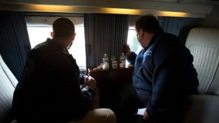 El presidente Obama junto al gobernador de New Jersey Chris Christie