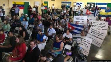 Activistas de Cuba, Venezuela, Nicaragua y Bolivia reunidos en Miami contra dictaduras de la región.