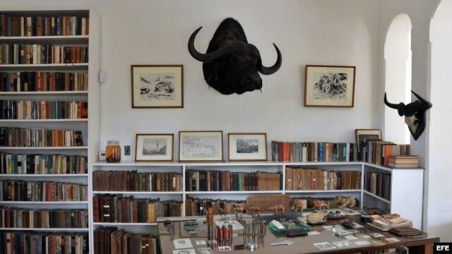 Un estudio en la residencia de Finca Vigía, en La Habana, donde vivió por más de 20 años Ernest Hemingway.