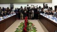 Vista general durante la primera reunión EEUU-Cuba