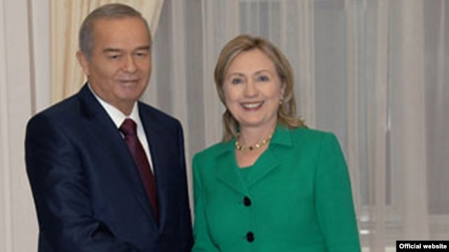 Uzbek dictator Karimov and Hillary Clinton