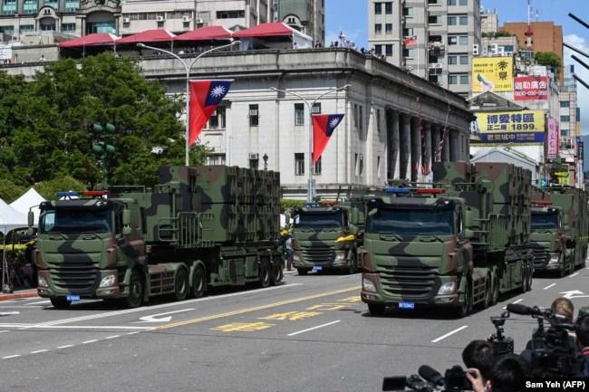Parada ushtarake në Tajpei më 10 tetor 2021.