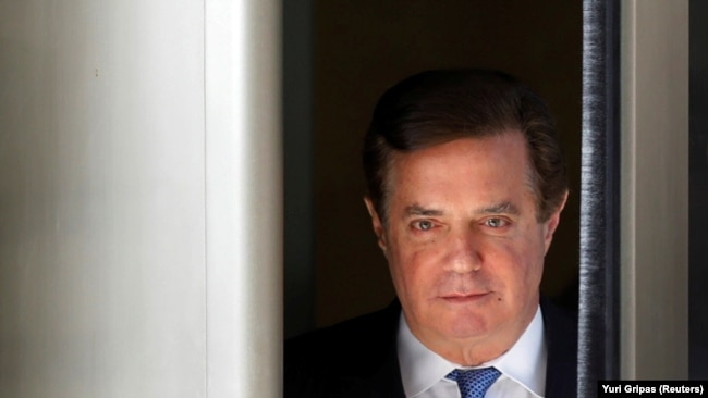 Manafort leaves U.S. District Court in Washington in February