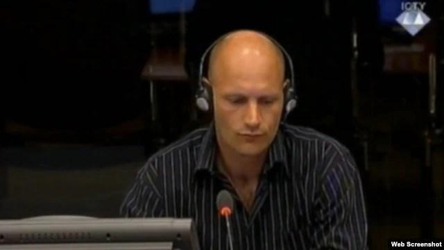 Paul Hrunevehen svjedoči na suđenju Mladiću, 1. svibanj 2013.