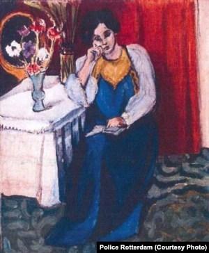 Henri Matisse - La Liseuse en Blanc et Jaune (1919), un alt tablou furat de la Rotterdam