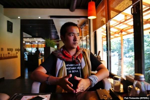 Поэт и гражданский активист Рамиль Ниязов. Алматы, 19 июля 2019 года.