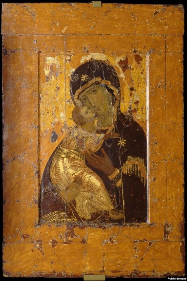 Вкрадена Вишгородська ікона Божої Матері, яка нині перебуває на території Росії