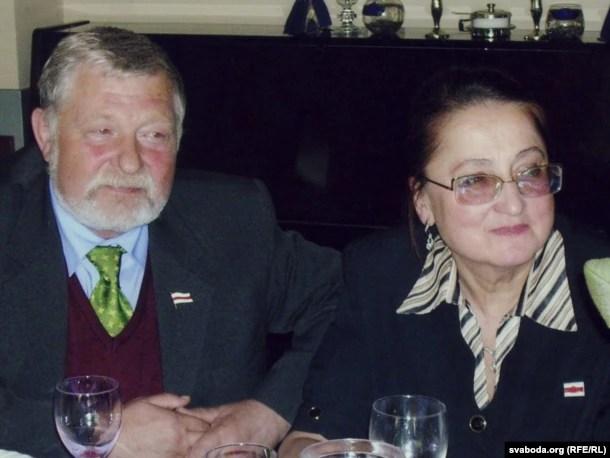 Юры Хадыка з жонкай Валянцінай. 2004 год