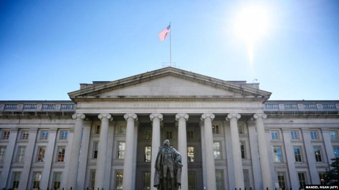 نمایی از وزارت خزانهداری ایالات متحده در واشینگتن