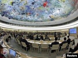 إجتماع لمجلس حقوق الإنسان في جنيف