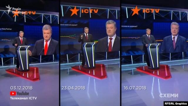 Три ефіри Порошенка на ICTV