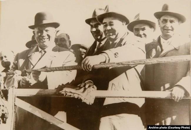 Микита Хрущов і Петро Шелест на відкритті Північнокримського каналу, 1963 рік
