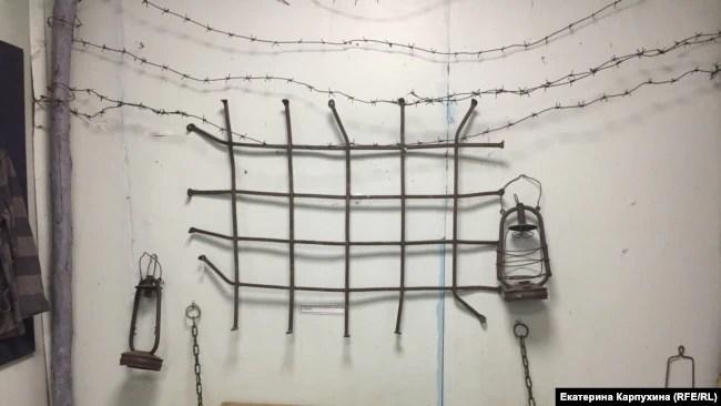 """Экспозиция в верхоянском музее """"Полюс холода"""", посвященная узникам ЯнЛага"""