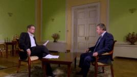 Хайо Зеппельт интервьюирует министра спорта России Виталия Мутко