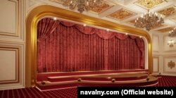 The palace includes a home theater.
