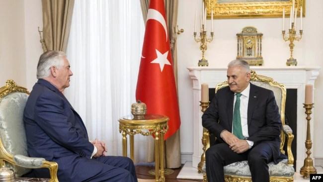 Binali Yildirim və Rex Tillerson