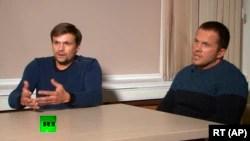 Петров и Боширов дадоха интервю за руската телевизия Russia Today през 2018, в което отрекоха да са участвали в атентата в Солсбъри
