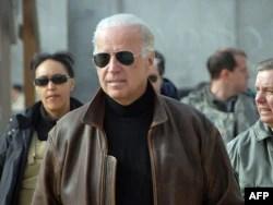 Then-Vice President-elect Joe Biden in Kandahar, Afghanistan, on January 11, 2009.