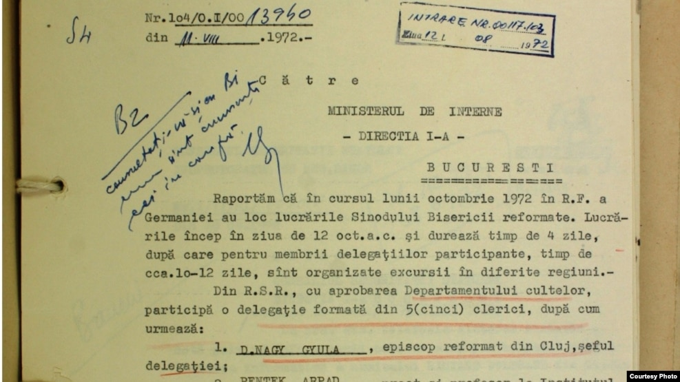 Document din Arhiva CNSAS