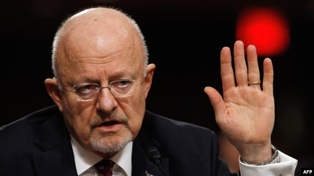 U.S. Director of National Intelligence James Clapper in February