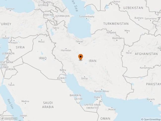 Isfahan is around 400 kilometers south of Tehran.