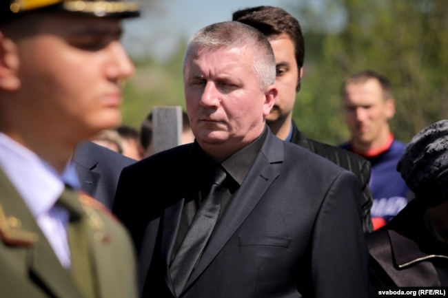 Владимир Потапович на похоронах сына. 18 мая 2019 года