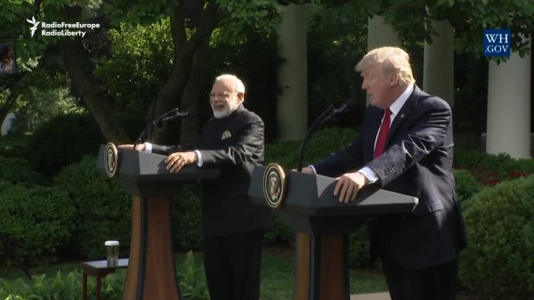 Trump, India's Modi Call On Pakistan To Stem Terror Attacks