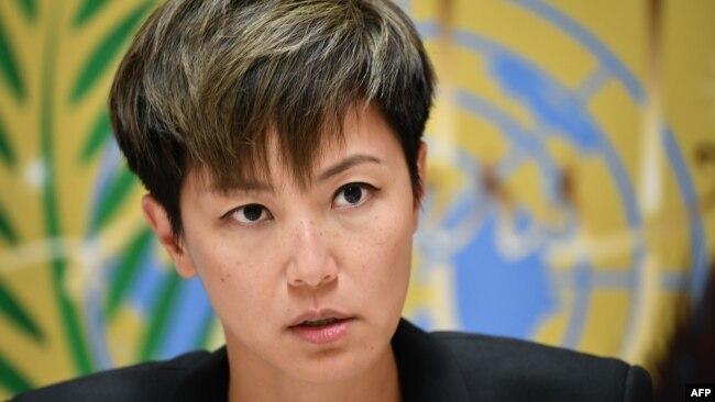 资料照:香港歌星、民主活动人士何韵诗