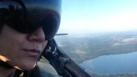 Rizman Nugraha ketika sedang latihan terbang. Dok: Foto/ R. Nugraha