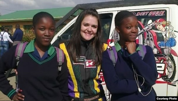Fabienne Lanz also trains young drivers and visits schools to share her journey in motorsport. (Photo courtesy: fabienneracing.com)
