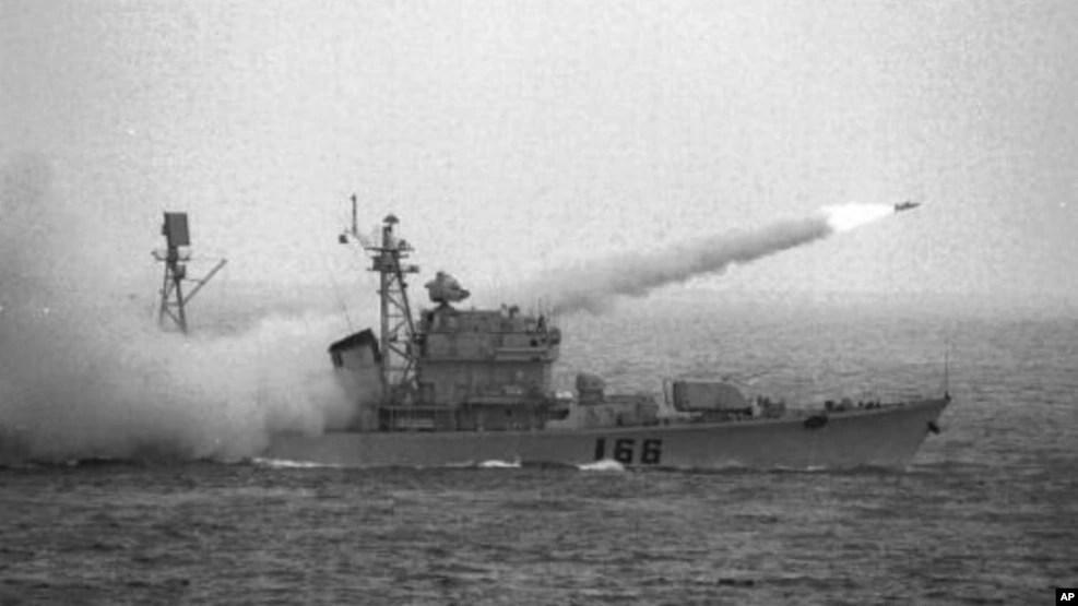 Hình ảnh một cuộc tập trận của Trung Quốc ở biển Đông.