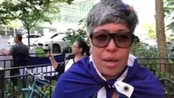 Nicaraguenses protestan en la ONU