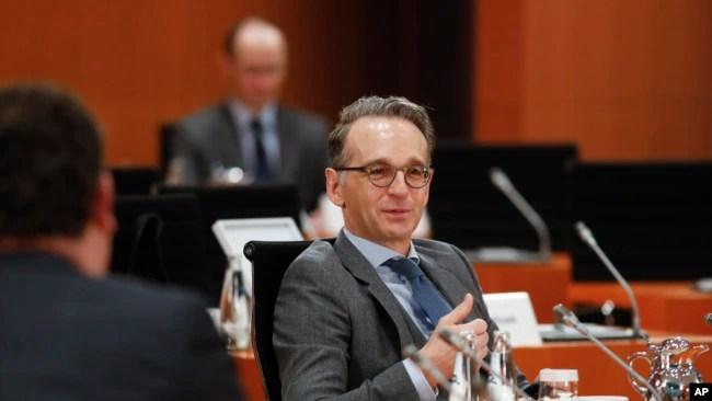 资料照片- 德国外长马斯出席德国政府每周一次的内阁会议。(2020年10月7日 )