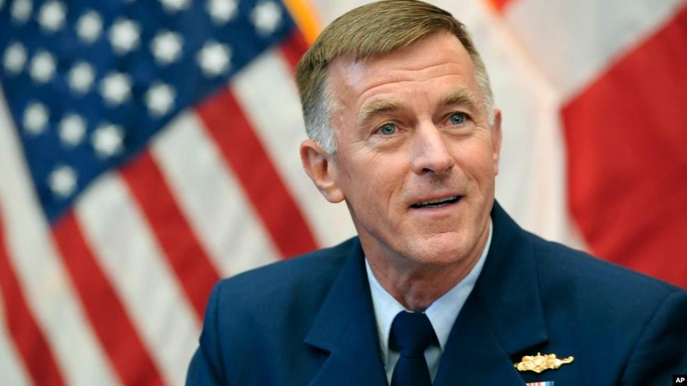 Tư lệnh tuần duyên Hoa Kỳ Đô đốc Paul Zukunft. (Ảnh tư liệu)